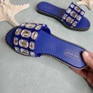 NEW Blue San Remo Slide Sandals